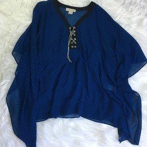 Calvin Klein Top in blue and black sz 2x